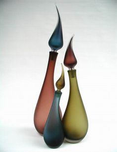 Candle bottles- Love the shapes; hate the colors!