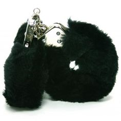 Love Cuffs Plush Black For those of us who want to get a little into bondage, without the pain, these plush furry cuffs are perfect. Real handcuffs, key included, with a soft furry sleeve that feels so good, when you're being so bad.