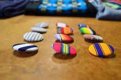 stripes fabric buttons on etsy Striped Fabrics, Stripes, Buttons, Blog, Etsy, Blogging, Plugs
