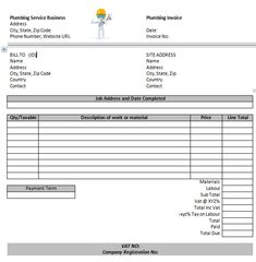 Free Plumbing Invoice Templates 13 Design Template Book