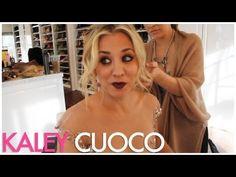 Kaley Cuoco Makeup / Golden Globes 2013 - YouTube