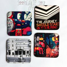 15% off  using code LILDIVA  4 coasters BERLIN URBAN set  set of 4 Back to by Soopolalliesoup, $25.00