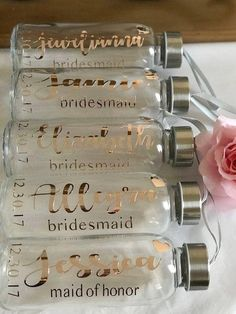 The origanal Rose Gold Water bottles/bridesmaid bottles/Rose Gold Water bottles/. - The origanal Rose Gold Water bottles/bridesmaid bottles/Rose Gold Water bottles/… – - Unique Wedding Favors, Gifts For Wedding Party, Bridal Gifts, Party Gifts, Wedding Party Gift Ideas, Party Favors, Wedding Cakes, Wedding Decorations, Bridesmaid Gifts From Bride