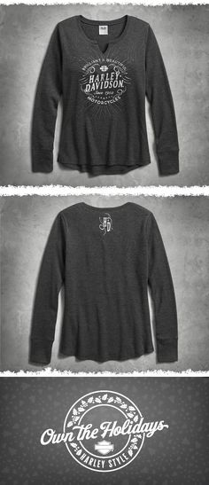 1907c9141 This comfy women's long sleeve top is ready for anything: weekend tour,  rally with. Motorcycle ...