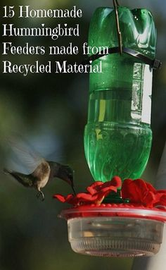 15 diy hummingbird feeders that hold nectar to attract hummers to your yard.