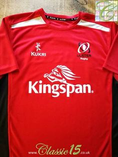d124b61df12 Official Kukri Ulster rugby training shirt from the 2015/16 season. Ulster  Rugby,