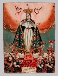isamizdat:    mirabile—-visu:    Our Lady of Cocharcas, Virgin with Indian Worshipers.  source: letmypeopleshow