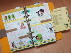 Filofax: love the use of washi in this one!