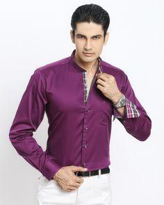 VINE CHINESE COLLAR SHIRT Jaihind Retail   Men Online Shopping   Mens Clothing in Pune Chinese Collar Shirt, Groom Wear, Men Online, Pune, Collar Shirts, Pyjamas, Party Wear, Online Shopping, Shirt Designs