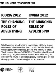 European Advertising Academy - ICORIA Advertising, Ads, Research, Shit Happens, Life