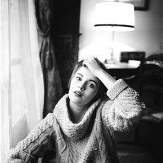 Jean Seberg-- the pixie cut--sweater combo