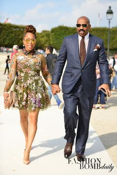 What's In Her Shoe Closet? Marjorie Harvey in Christian Louboutin, Louis Vuitton, Valentino, and more! Black Celebrity Couples, Black Love Couples, Cute Couples, Celebrity Style, Power Couples, Fashion Couple, Love Fashion, Fashion News, My Black Is Beautiful