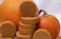Homemade Soap Bars with Pumpkin