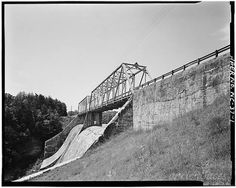 1. VIEW OF BRIDGE, FROM EAST - Lake James Spillway...