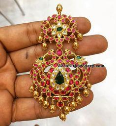 55 Grams Two Step Ruby Locket - Jewellery Designs
