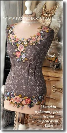 Mannequin ideas(not my work) Mannequin Art, Dress Form Mannequin, Decoupage, Mannequin Display, Silk Ribbon Embroidery, Colourful Outfits, Mannequins, Sewing Clothes, Dressmaking