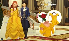 Sims 4 CC's - The Best: Beauty & the Beast - mini set by In a bad Romance