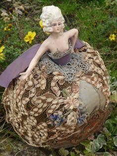 RARE Antique French Boudoir Doll Half Doll Fashion C1900 | eBay