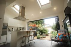 Rear House Extension End of Terrace House - Permitted Development Rear Extension House Extension Design, Extension Designs, Extension Ideas, Bungalow Extensions, House Extensions, Kitchen Extensions, Kitchen Layout, Kitchen Design, Kitchen Ideas