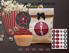 Digital Stamps, Digital Scrapbooking, Silhouette Cameo Free, File Image, Party Items, Vector File, Cupcake Toppers, Gift Wrapping, Clip Art