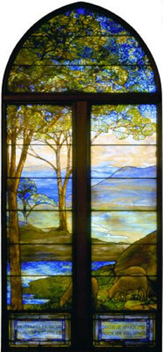 2nd Landscape window - south wall.  Tiffany windows, 1st Presbyterian Church, Topeka, KS.