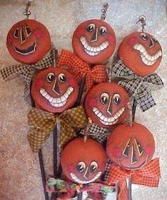 The Vintage Dresser: Halloween Pumpkin Heads Tutorial