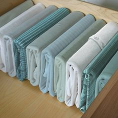 Brilliant way to store clothes in drawers so you can actually see them!