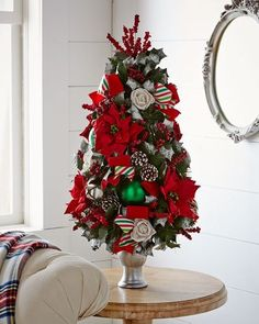 """H8CR8 Classic Red & Green 36"""" Christmas Tree"""