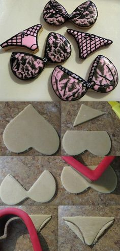 Lingerie cookies with a heart cookie cutter!