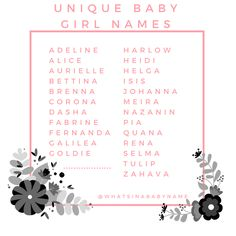 Unique Baby Girl Names What s In A Baby Name boy names Boy Names strong Boy Names uncommon Boy Names unique Unique Girl Names, Unusual Baby Names, Cute Baby Names, Boy Names, Writing A Book, Writing Tips, Name Inspiration, Name List, Names With Meaning