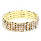 Four Rows Golden Diamond Bracelet – EUR € 2.75