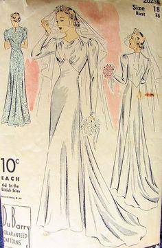 Retro Wedding Dress Patterns