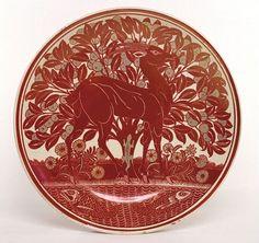'Antelope Dish', William de Morgan