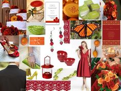 #cherry #orange and #lime inspiration board