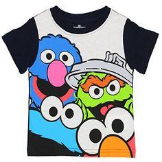 Sesame Street Boys Short Sleeve Tee #SesameStreet #BoysTee #KidsTee #SesameStreetClothing #BabyTee #ToddlerTee #YankeeToyBox