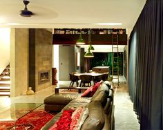Australian Paddington Residence by Ellivo Architects Studio living room arrangement color pallet solutions