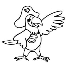 pirate parrot coloring pages for kids printable parrots coloring pages for kids