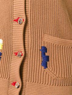 Nina Ricci embroidered shawl neck cardigan