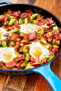 Brussels Sprouts Hash Is Brunch At Its FinestDelish High Protein Breakfast, Paleo Breakfast, Breakfast Recipes, Breakfast Ideas, Breakfast Dishes, Brunch Ideas, Dinner Ideas, Sausage Breakfast Sandwich, Desayuno Paleo