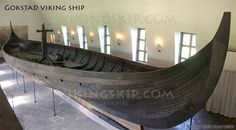 Gokstadskipet - The Gokstad Longship - Gokstadskeppet - Viking ships and norse wooden boats by Jørn Olav Løset, Norway - Vikingskip.com