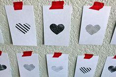 DIY Wall of Hearts