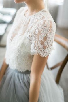 2016 Country Style Bohemian Bridesmaid Dresses Top Lace Short Sleeves Illusion Bodice Tulle Skirt Maid Of Honor Wedding Guest Party Gowns Dress Skirt, Dress Up, Dress Lace, Chiffon Skirt, Floaty Dress, Lace Outfit, Flowy Skirt, Lace Dresses, Mode Outfits