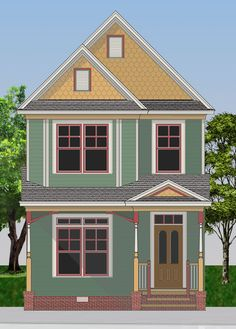 images about Victorian Style  quot Painted Ladies quot  House Plans on    Painted Lady Victorian Shea Terrace is ideal for urban infill narrow lots  Total Living Area