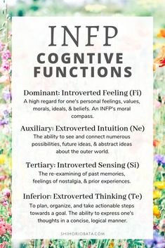 Understanding INFP Cognitive Functions (A Guide to Mature Growth) Infp Personality Type, Myers Briggs Personality Types, Personality Descriptions, Personality Psychology, Psychology Quotes, Introverted Sensing, Infj Infp, Memes, Adhd