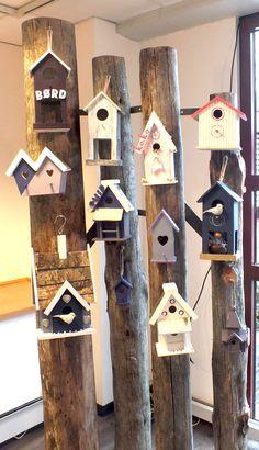 Birdhouses from NordsjoFarger.blogspot.com