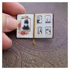 miniature victorian album pages!