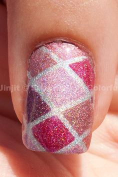 Holographic Diamonds Nail Art Tutorial #nails