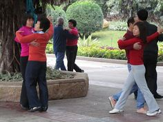 Guangzhou. Morning exercise activities in the park.