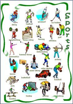 EwR.Vocabulary Poster English SPORTS