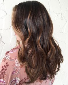 Dark+Brown+Hair+With+Caramel+Highlights